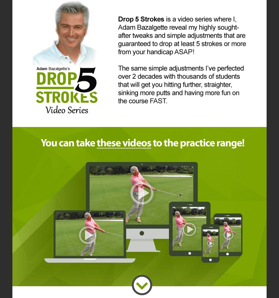 drop 5 strokes - scratch golf academy