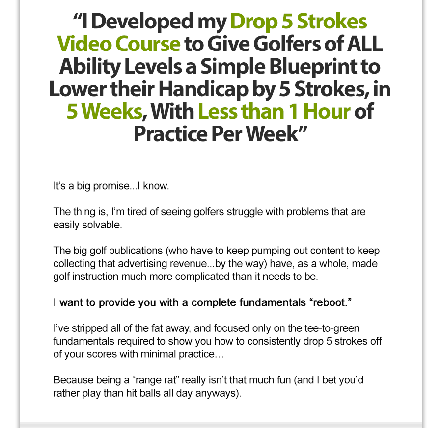 drop 5 strokes